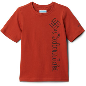 Columbia Happy Hills Graphic SS Tee Boys, dark sienna branded